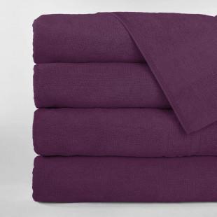 Set 5 prosoape de baie, Greek border violet, din bumbac 100% Ralex Pucioasa 50x90 cm