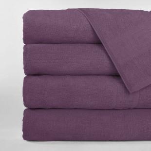 Set 5 prosoape de baie, Greek border violet pal, din bumbac 100% Ralex Pucioasa 50x90 cm