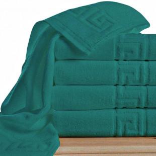 Set 5 prosoape de baie, verde Greek border din bumbac 100% Ralex Pucioasa 50x90 cm