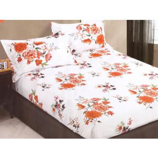Set cearceaf de pat din bumbac satinat cu elastic, 180x200 cm cu 2 fete de perna, Casa New Concept - Anelis