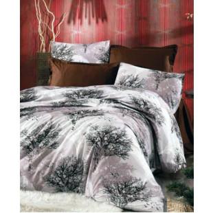 Set lenjerie de pat dublu din bumbac 100% Ranforce, pentru 2 persoane cu 2 huse de pilota, Armonia Textil - Luisa