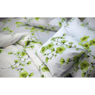 Set lenjerie pat dublu din bumbac 100% neted, pentru 2 persoane cu 2 huse de pilota, Armonia Textil - Lorena
