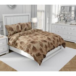 Set lenjerie pat dublu din bumbac creponat, pentru 2 persoane cu 2 huse de pilota, Armonia Textil - Nina
