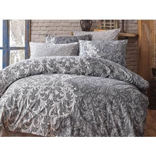 Lenjerie de pat pentru 2 persoane, 4 piese, Bahar Majoli, din bumbac 100% Ranforce - Talida