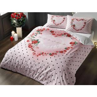 Lenjerie de pat pentru 2 persoane, fluorescenta, 4 piese, TAC, din bumbac 100% Ranforce - Thea
