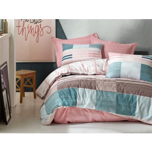 Lenjerie de pat pentru 2 persoane, 4 piese - Cotton box, din bumbac 100% - Tiarra