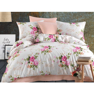 Lenjerie de pat pentru 2 persoane, 4 piese, Bahar Majoli, din bumbac 100% Ranforce - Xenia