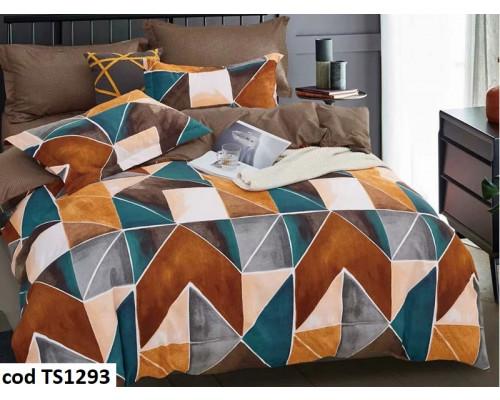 Lenjerie de pat bumbac finet, cu 4 piese, pentru 2 persoane, Dormy Pucioasa Lia