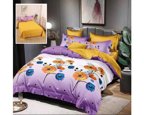 Lenjerie de pat bumbac finet, pentru 2 persoane, cu 6 piese, Ralex Pucioasa - Paula