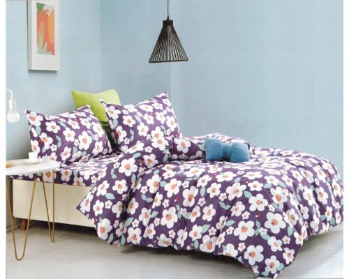 Lenjerie de pat din bumbac satinat pentru 1 persoana, cu 3 piese - Janine
