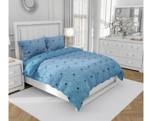 Lenjerie de pat dublu, din bumbac 100%, pentru 2 persoane, cu 4 piese Armonia - Carla