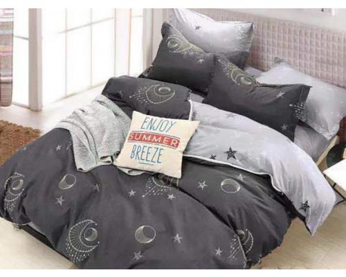Lenjerie de pat dublu pentru 2 persoane din bumbac finet cu 6 piese - Sonia