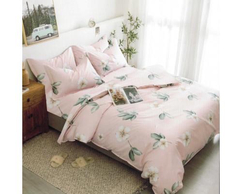 Lenjerie de pat dublu pentru 2 persoane din bumbac finet cu 6 piese - Zina