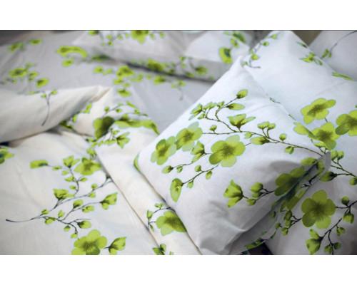 Lenjerie de pat matrimonial, din bumbac 100% neted, pentru 2 persoane, cu 4 piese Armonia Textil - Larisa