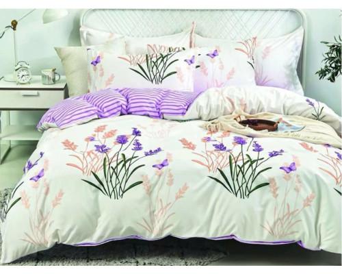 Lenjerie pentru pat dublu, 2 persoane, din bumbac satinat, cu 4 piese - Vanina