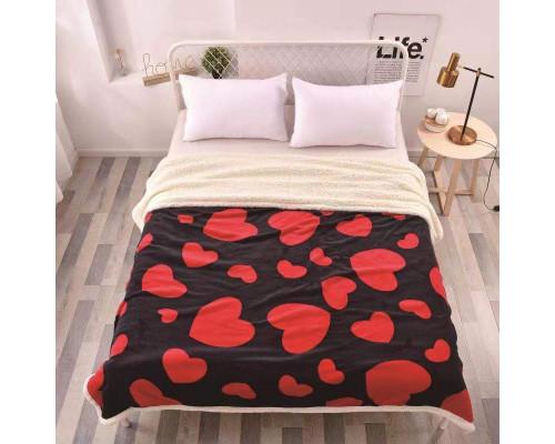 Patura cocolino pufoasa cu blanita pentru pat dublu, 2 persoane 200x230 cm - Geo