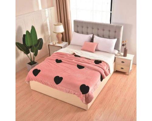 Patura cocolino pufoasa cu blanita pentru pat dublu, 2 persoane 200x230 cm - Leea