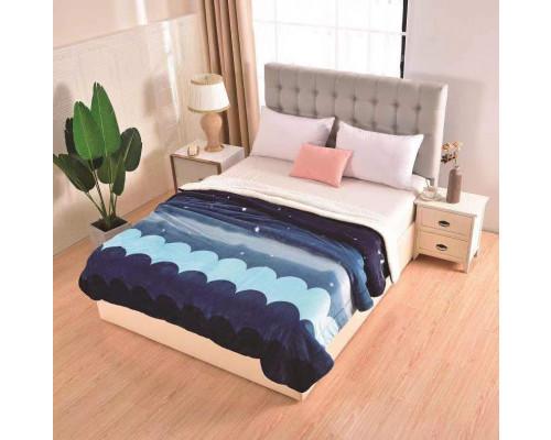 Patura cocolino pufoasa cu blanita pentru pat dublu, 2 persoane 200x230 cm - Waves
