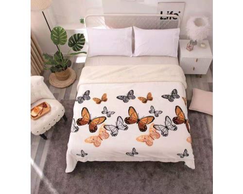 Patura cocolino pufoasa cu blanita pentru pat dublu, 2 persoane 200x230 cm - Anaia
