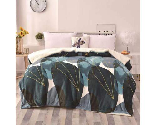 Patura cocolino pufoasa cu blanita pentru pat dublu, 2 persoane 200x230 cm - Ligia