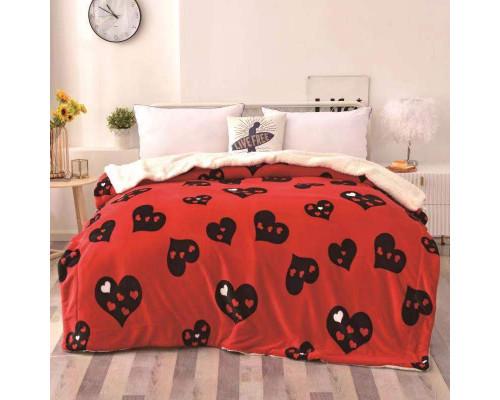 Patura cocolino pufoasa cu blanita pentru pat dublu, 2 persoane 200x230 cm - Simina