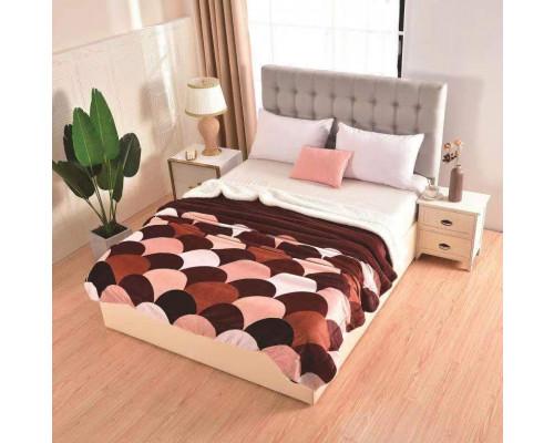 Patura cocolino pufoasa cu blanita pentru pat dublu, 2 persoane 200x230 cm - Tania